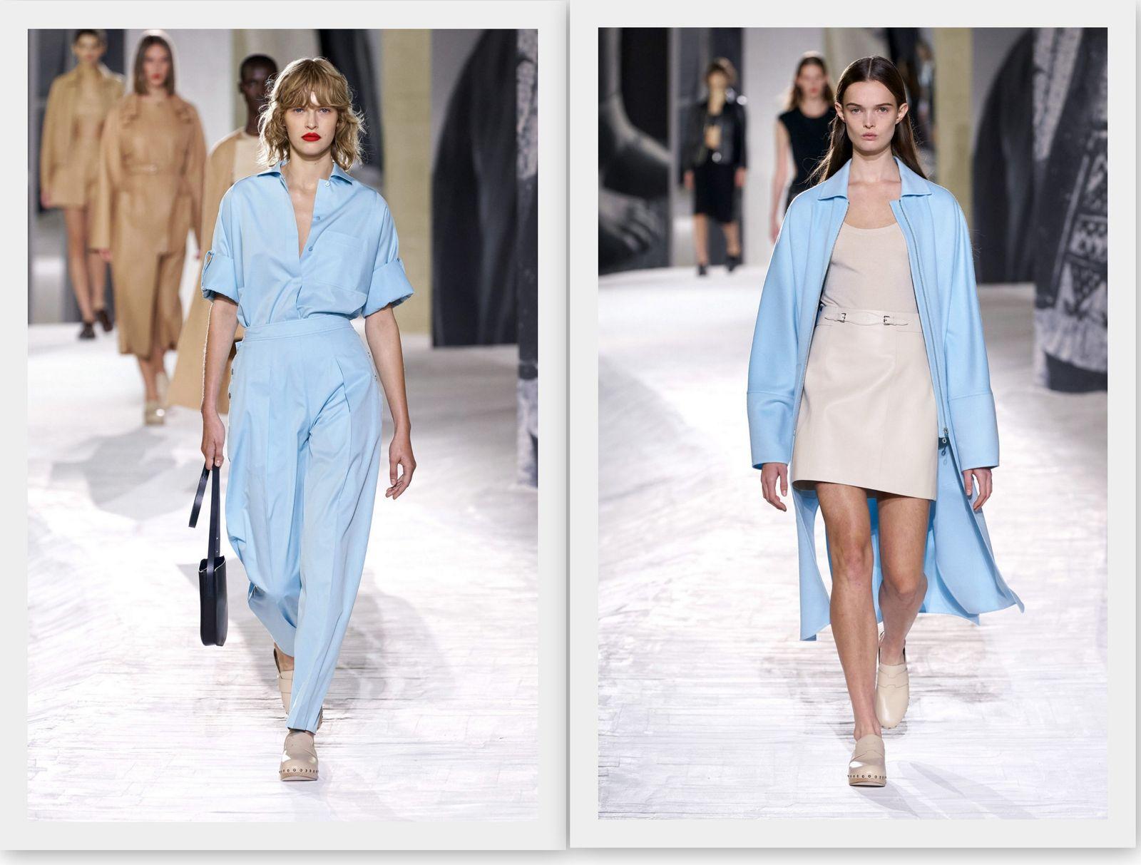 Голубой цвет в моде 2021