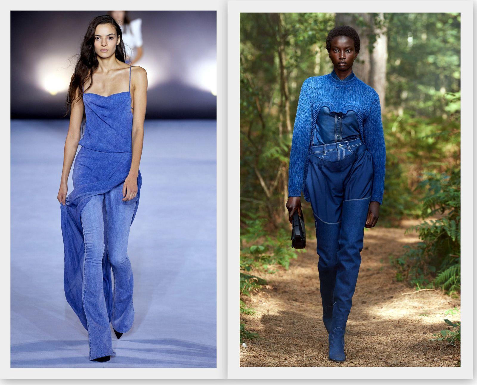 Классический синий цвет в женской моде 2021