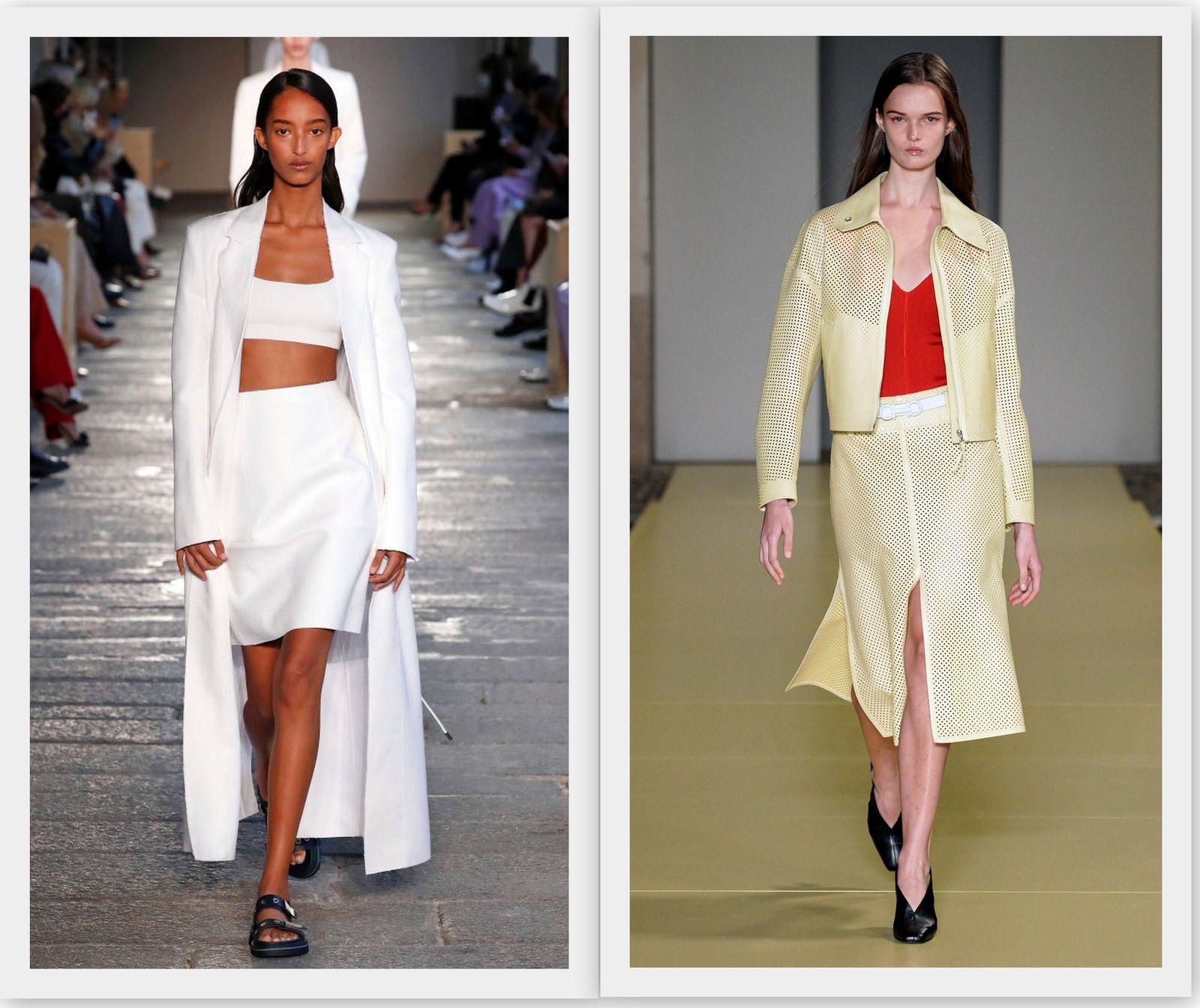 Модные прямые юбки 2021