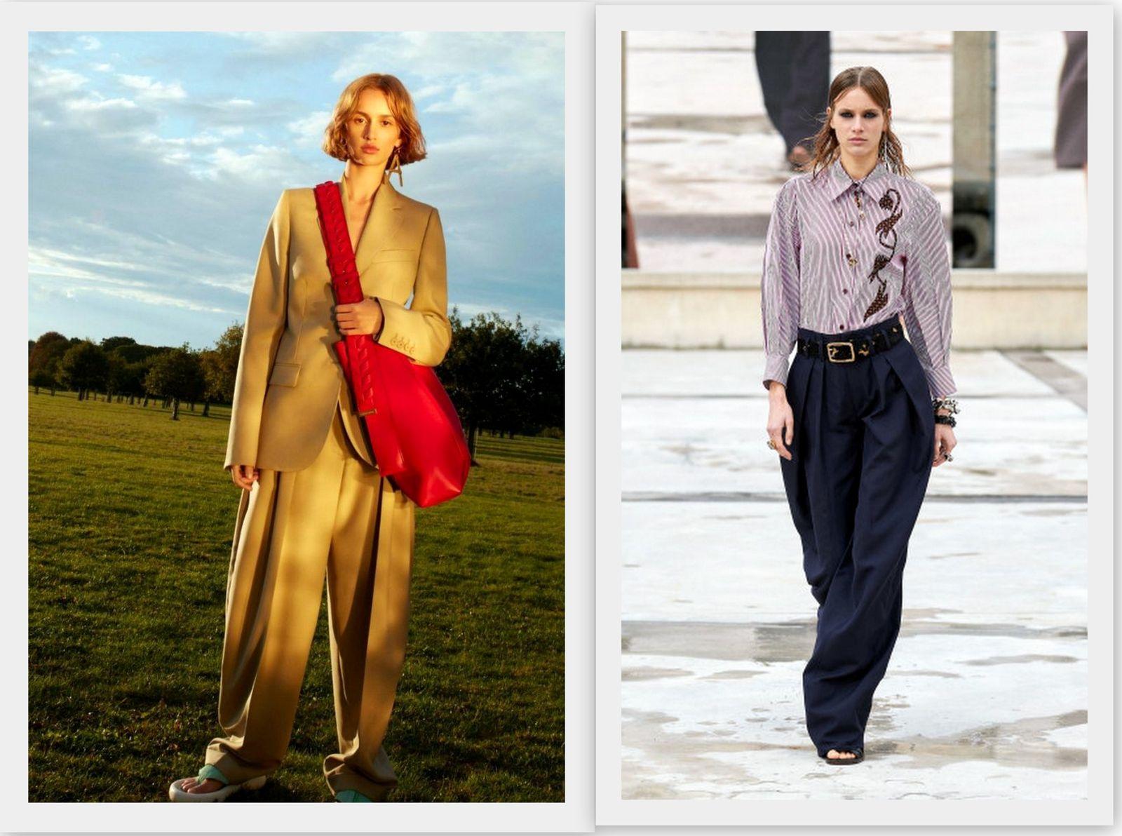 Модные широкие брюки 2021