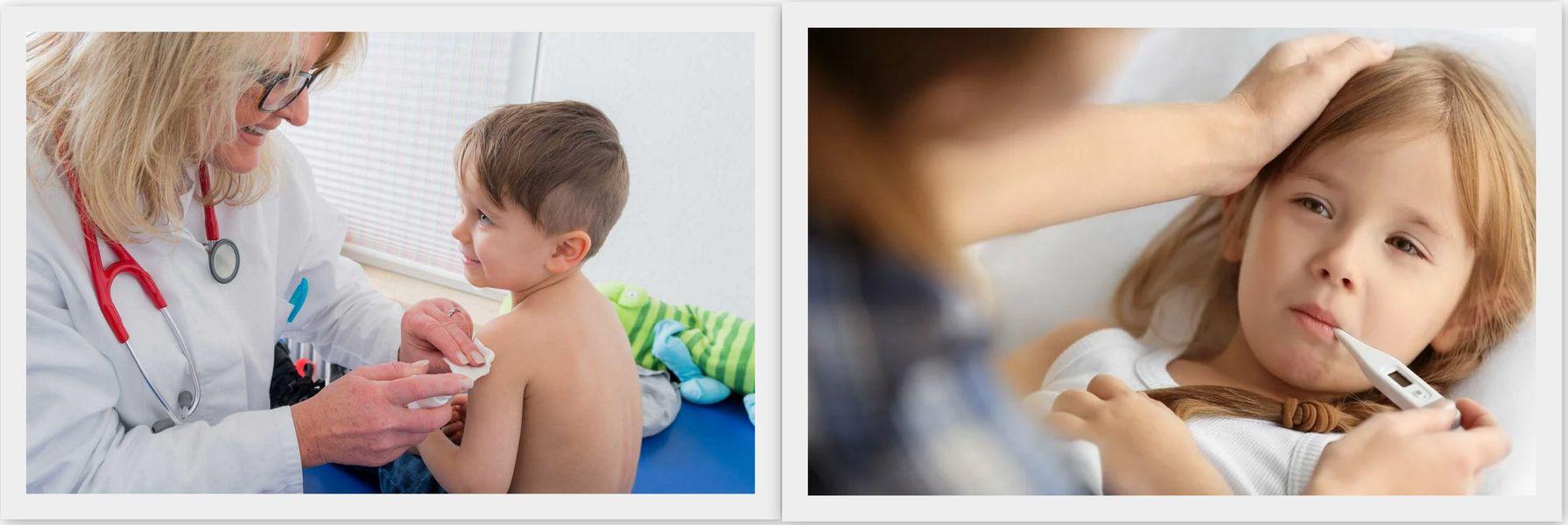 Распространенные реакции на прививку