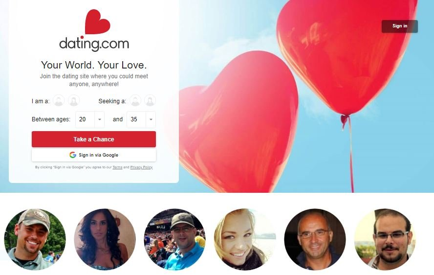 Главная страница dating com
