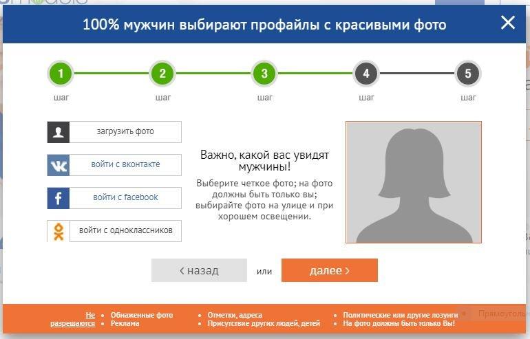 Регистрация на Elenasmodels - шаг 4