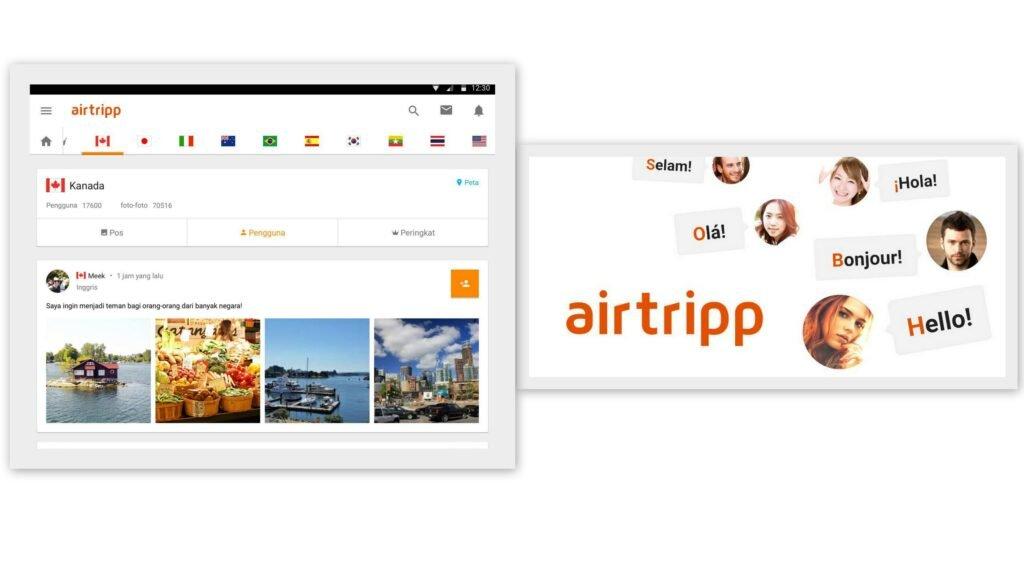 Приложение AirTripp поможет познакомиться с иностранцами из 250 стран мира